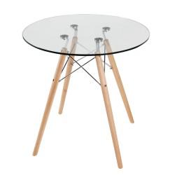 Stół Milano fi70 Szkło